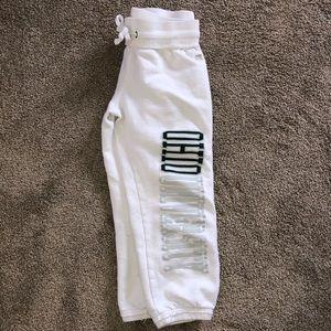 OHIO UNIVERSITY White Cropped Sweatpants